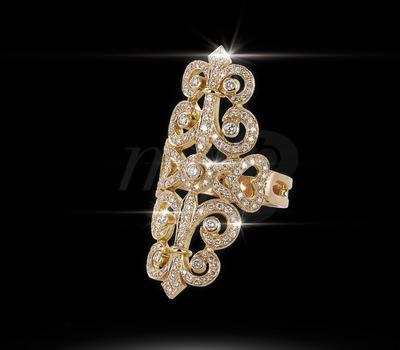 Sortija Sissi en oro amarillo y diamantes de Édouard Nahum