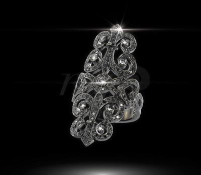 Sortija Sissi en oro negro rodiado y diamantes negros de Édouard Nahum