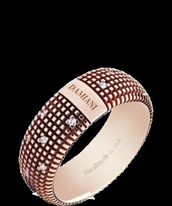 Anillo Metropolitan Dream grande en oro rosa y diamantes de 0,14 qts de Damiani