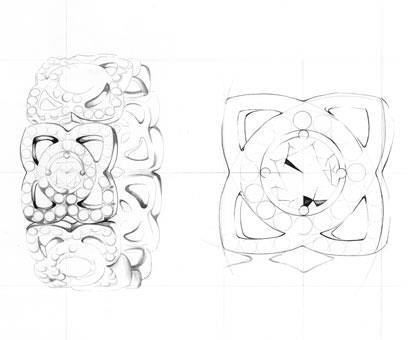 Bocetos de las Joyas Enchanted Lotus Collection De Beers