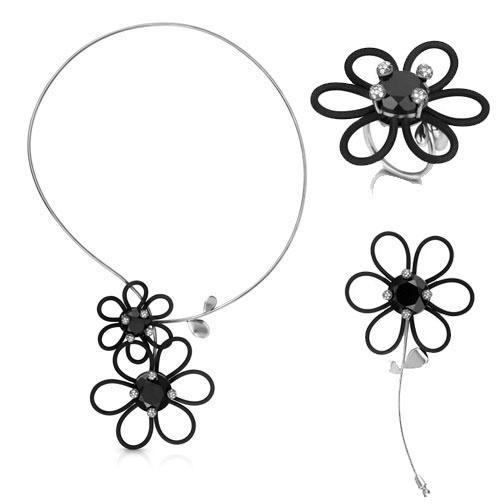 Colección Maggie & Maggie en plata rodiada en negro, diamantes y ónice de Tous Jewelry