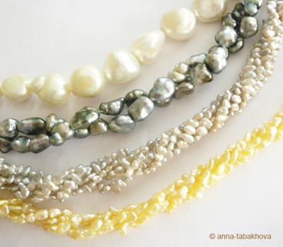 Perlas Keshis de Australia, Tahití y Japón