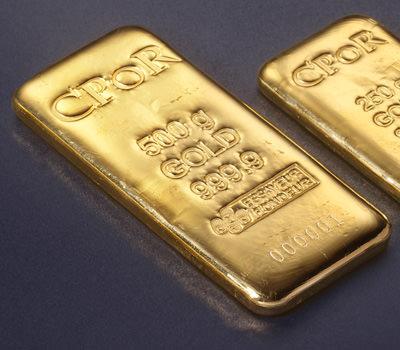 Lingote de oro de 24 quilates de 500 gramos