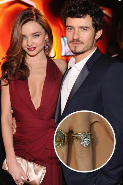 El anillo de Orlando Bloom para Miranda Kerr