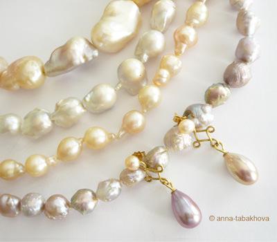 Perlas de China barrocas y peras