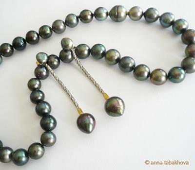Perlas Negras de Tahití redondas y peras