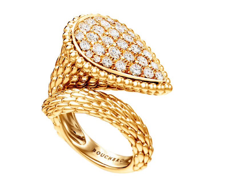 Anillo Serpent Bohème Boucheron en oro y diamantes