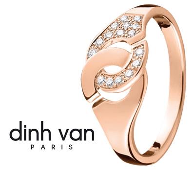 Oro rosa - Anillo Dinh Van Les Menottes en oro rosa