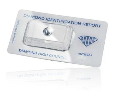 Certificado de autenticidad del diamante hrd GIA