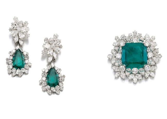 Conjunto Joyas Esmeraldas de Gina Lollobrigida a Subasta en Sotheby´s 2013