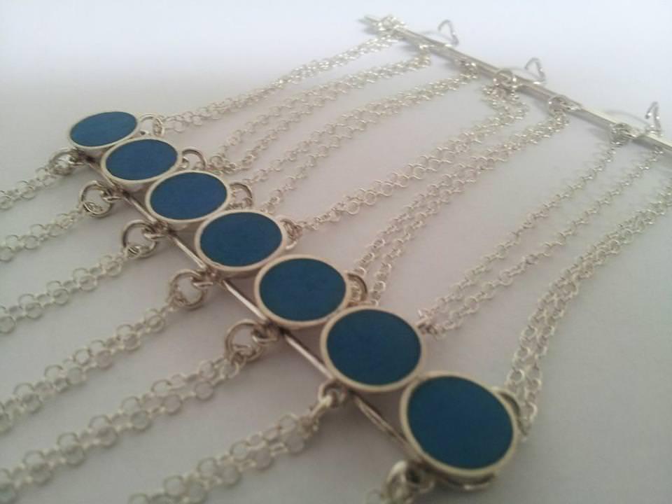 Pulsera Blue Lagoon en plata 925 de Claudia Lira