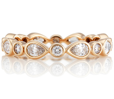 Alianza Petale De Beers en oro rosa y diamantes