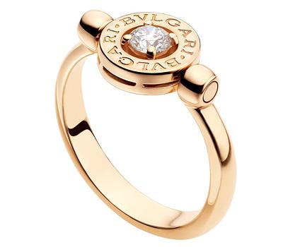 fc0ad07c0231 Cuánto cuesta un anillo de compromiso Anillo de compromiso Bulgari en oro  rosa y diamante