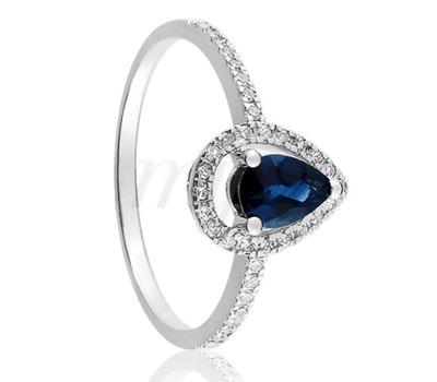 3ac734974ba4 Anillo Ocarat en zafiro azul Anillo Ocarat en zafiro azul Anillo Belancy en oro  blanco ...
