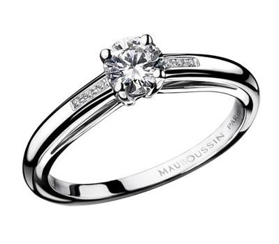 Anillo Solitario en diamantes de Mauboussin