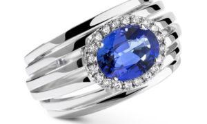 10 anillos modernos con zafiros