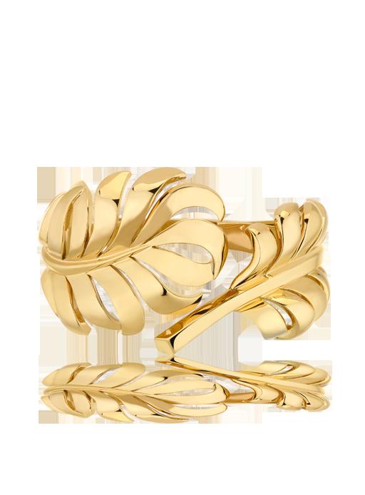 Brazalete Plume 1932 de Chanel en oro amarillo de 18 quilates