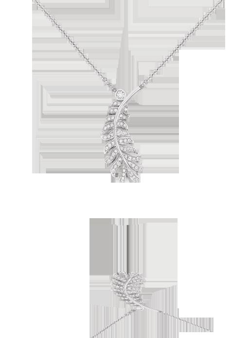 Collar Plume 1932 de Chanel en oro blanco de 18 quilates y diamantes