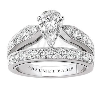 joyas Chaumet para novias Solitario Diadema Joséphine de Chaumet en oro blanco y diamantes