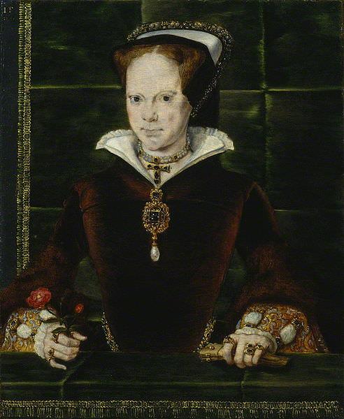 Retrato María Tudor de Hans Eworth 1554, National Portrait Gallery