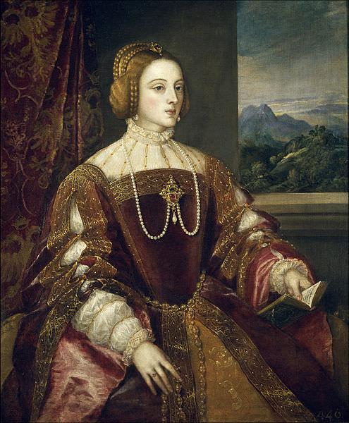 Retrato Isabel de Portugal 1548, Titian, Museo del Prado