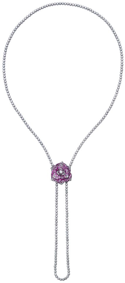Collar-Rose-Piaget-oroblanco-18qts-zafiros-rosas-diamantes
