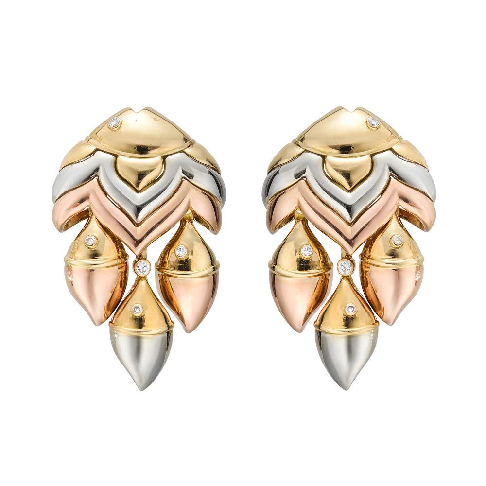 Pendientes Bulgari Mamma Pesce piedras preciosas y oro