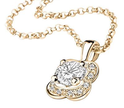 Colgante con diamantes Chance of Love de Mauboussin