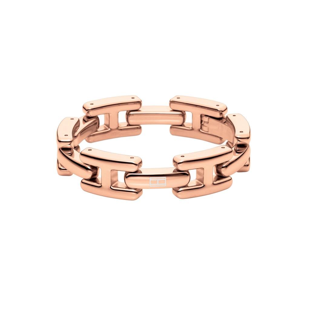 Pulsera de eslabones Tommy Hilfiger en acero chapado oro rosa