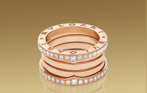 catálogo de joyas Bulgari-Anillo Bulgari B.Zero1 oro amarillo y pavé diamantes