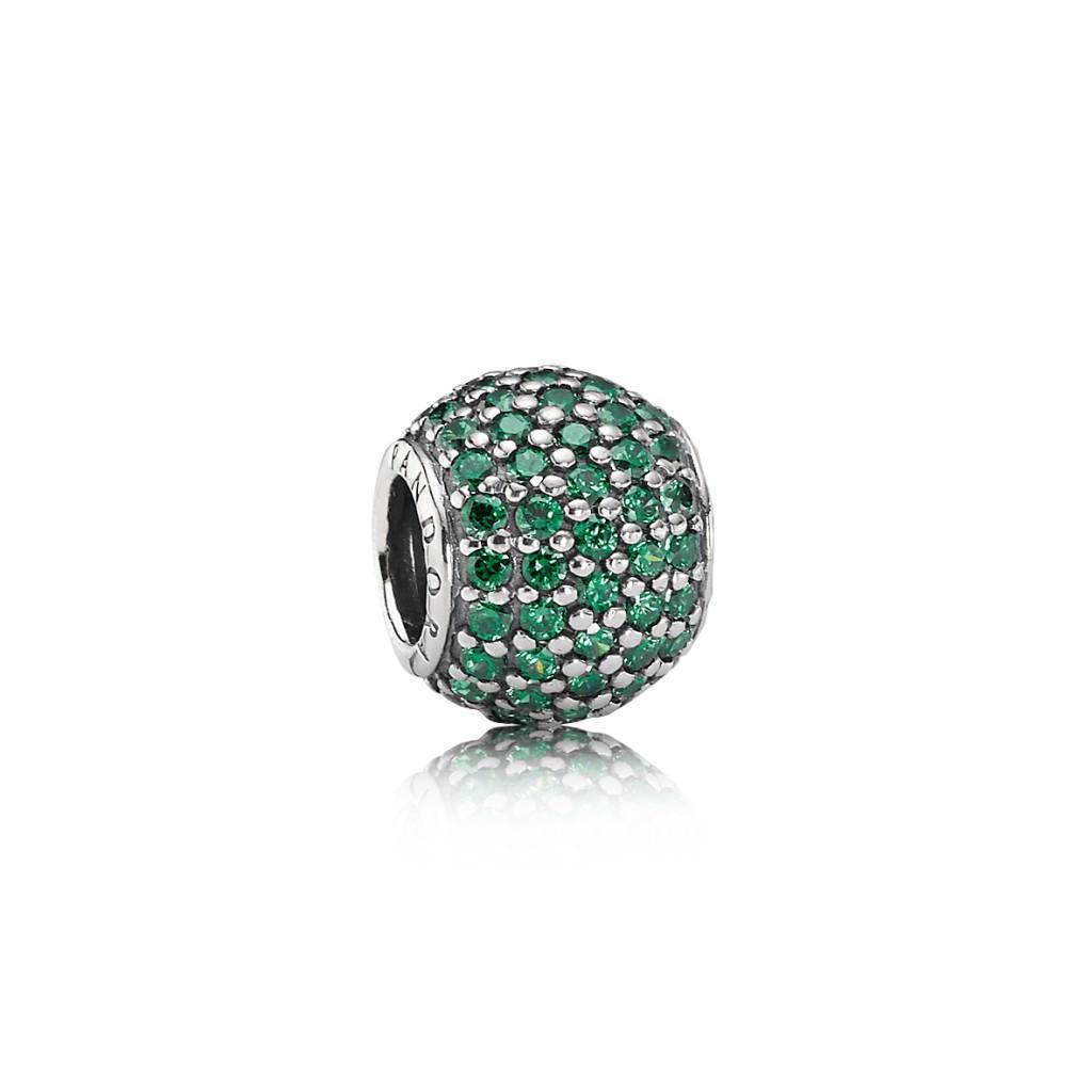 Nuevo Charm Pandora en pavé Verde Otoño 2013