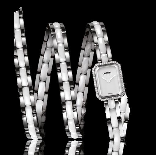 Chanel Relojería - Reloj Chanel Première Triple Vuelta en acero, esmallte y diamantes