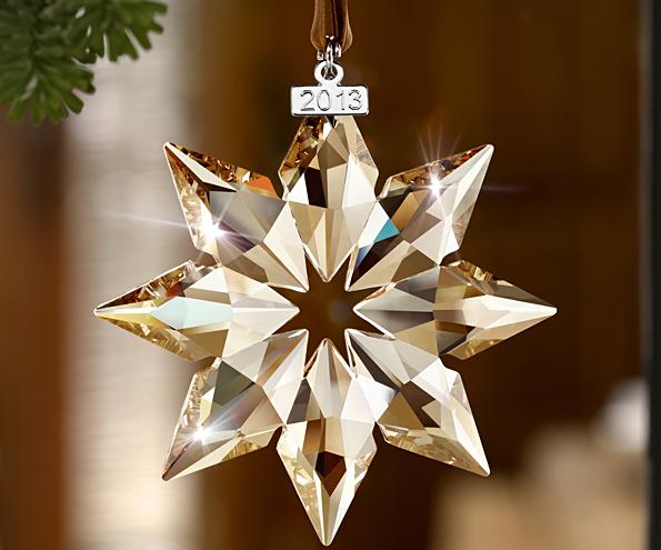 Decoración Swarovski Estrella de Navidad 2013