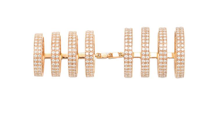 Anillo Berbere Repossi articulado con 7 aros en oro y diamantes
