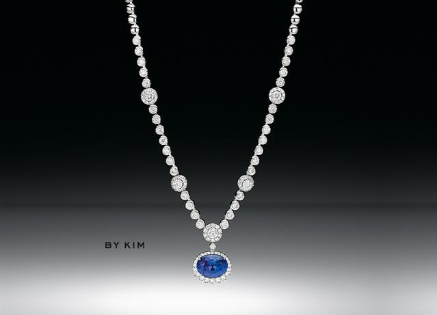 Collar Blu by Kim de Wempe en oro blanco, tanzanita y brillantes