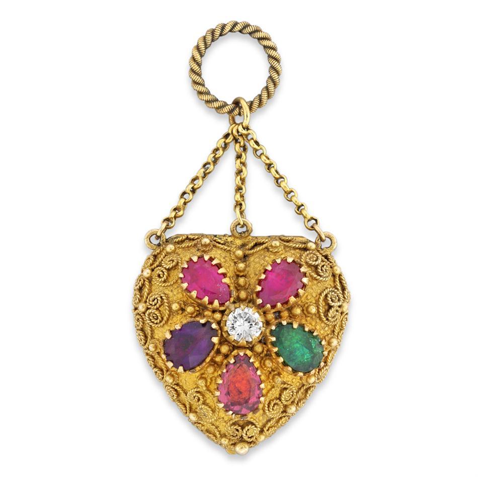 A-Georgian-REGARD-and-gold-heart-locket-Bentley-Skinner