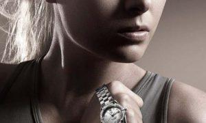 El reloj Aquaracer TagHeuer en diamantes de Maria Sharapova