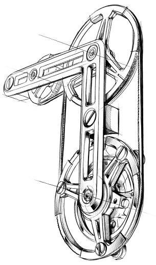 revolucionario sistema micro cintas V4Tourbillon TAG Heuer