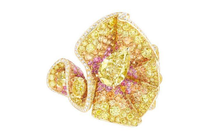 Anillo Archi Dior en diamantes amarillos Dior Alta Joyería