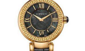 Versace Leda, un reloj muy chic en negro y oro