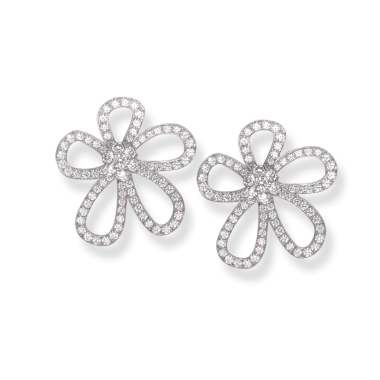 Pendientes VanCleefArpels Flowerlace pequeños de clip