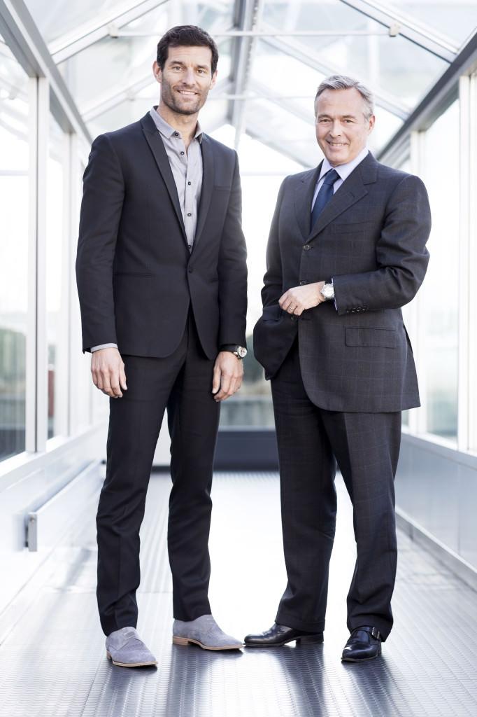 Mark Webber and Karl-Friedrich S cheufele ®JohannSauty-Chopard