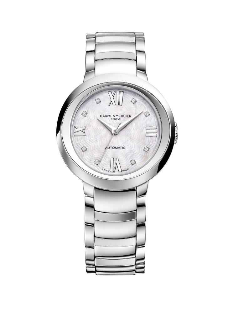 Promesse automatic steel diamond-set dial