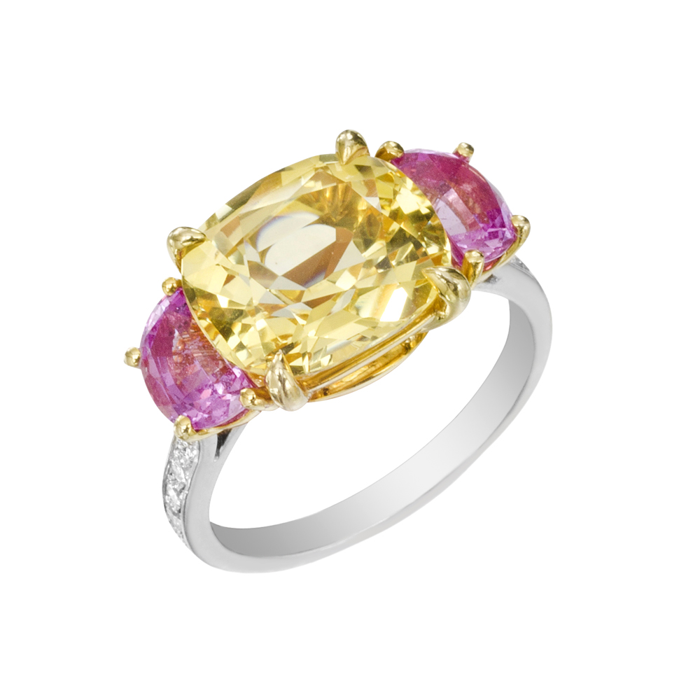 paolo-costagli-yellow-pink-sapphire-cocktail-ring-white-gold