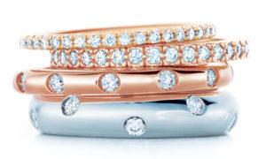 Alianzas y anillos de compromiso de Tiffany Nueva York