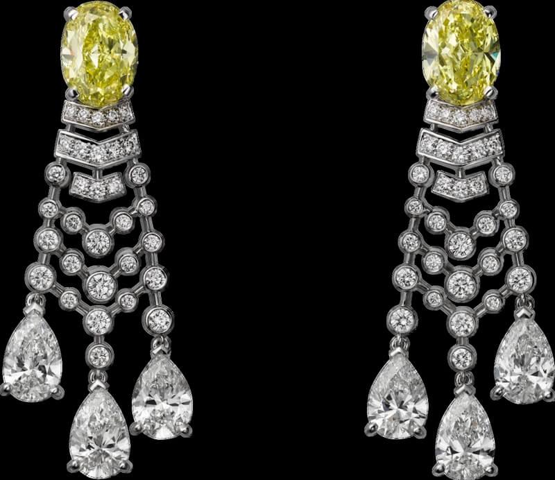 Alta joyería Cartier - cartier-magicien-altajoyeria-2016-pendientes-platino-diamantes