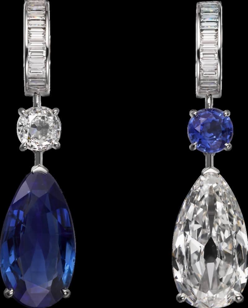 Alta joyería Cartier cartier-magicien-altajoyeria-2016-pendientes-platino-zafiros-diamantes