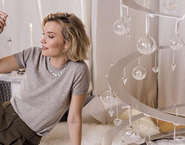 Navidad decorada con cristal Swarovski
