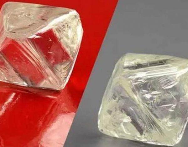 Dos diamantes enormes hallados en Siberia Rusia